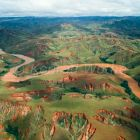 Betsiboka River, erosion in the Central Plateau of Madagascar after deforestation