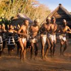 Antandroy dancers, Berenty, South Madagascar, Africa